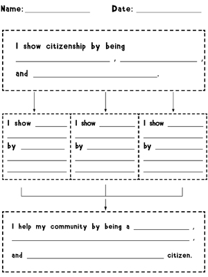 Citizenship Traits Graphic Organizer - Printable