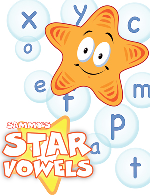 Star Vowels - Card Game - Printable