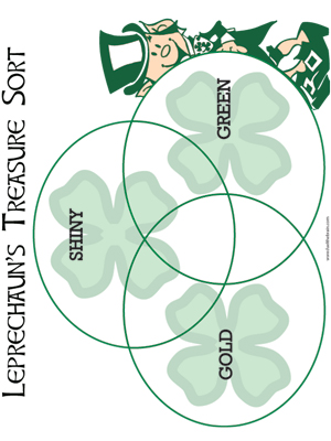 Leprechaun Treasure Sort - Printable