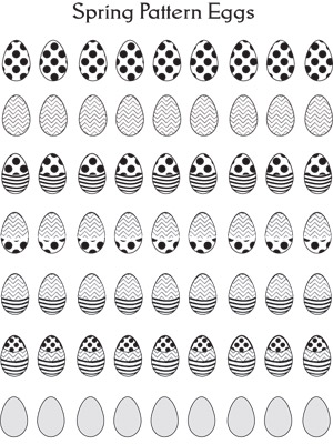 Spring Pattern Eggs - Printable