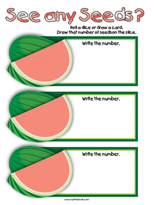 Watermelon Number Draw - Printable