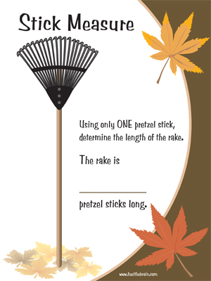 Stick Measure - Printable