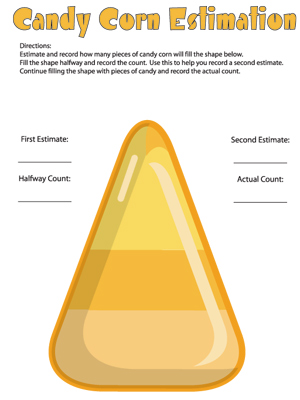Candy Corn Estimation - Printable