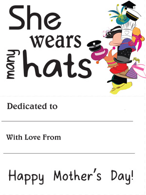 Mother's Day Booklet - She Wears Many Hats - Printable
