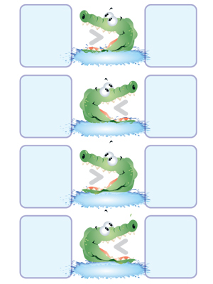 Gator Grab Comparison - Printable