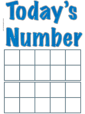 Today's Number Poster - Ten Frames - Printable
