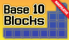 Base 10 Block Manipulatives - Interactive