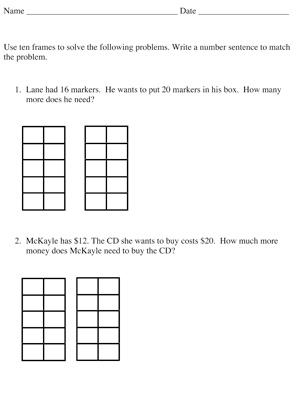 Common Worksheets » Ten Frames Template - Preschool and ...